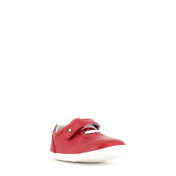 RYDER STEP UP - RED/CHARCOAL LEATHER