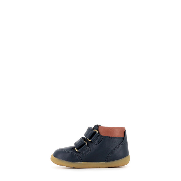 TIMBER STEP UP - NAVY LEATHER