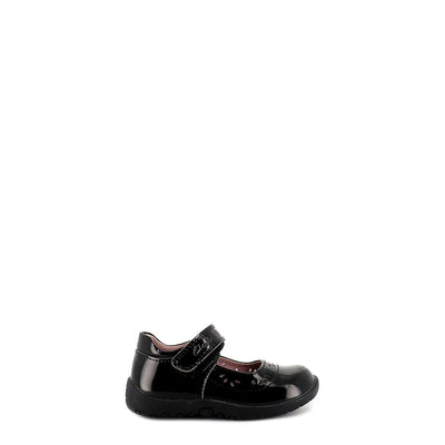 SATIN E - BLACK PATENT