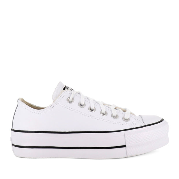 ALL STAR LIFT LOW LEATHER - WHITE BLACK WHITE