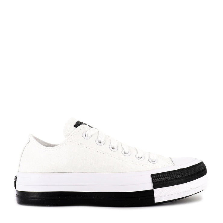 ALL STAR STACK LIFT LOW - WHITE BLACK WHITE