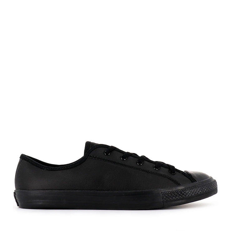 ALL STAR DAINTY LOW LEATHER CORE BLACK BLACK BLACK BY CONVERSE