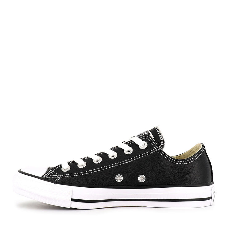 ALL STAR LOW LEATHER - BLACK