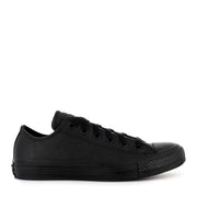 ALL STAR LOW LEATHER - BLACK MONO