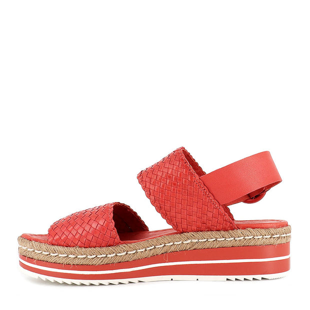 ALESHA - CORAL WEAVE LEATHER