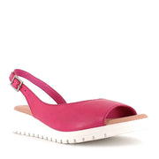 MITZI - FUCHSIA WHITE LEATHER