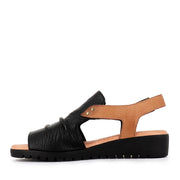 MADIS - BLACK DARK TAN LEATHER