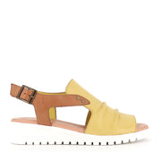 MADIS - LIGHT YELLOW DARK TAN LEATHER
