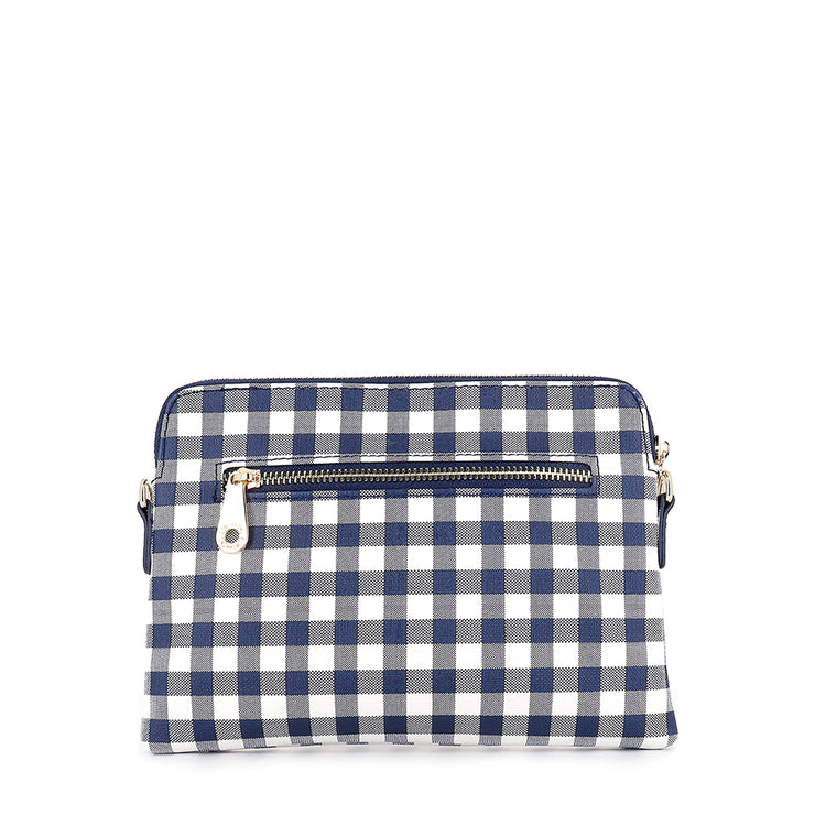 WALLET BOWERY - NAVY GINGHAM