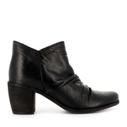 COURT W - BLACK LEATHER