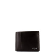 WALLET WITH COIN POCKET - BROWN LEATHER