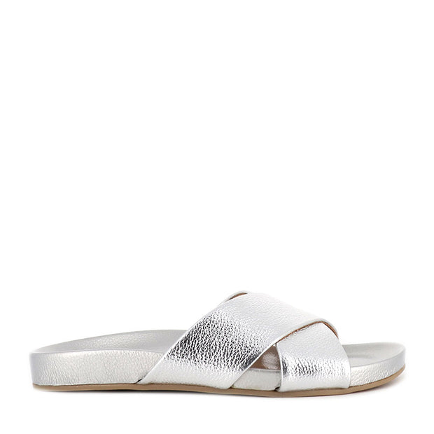 TIDE CROSS SLIDE METALLIC - SILVER TUMBLE