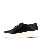 DERBY CITY LACEUP - BLACK LEATHER