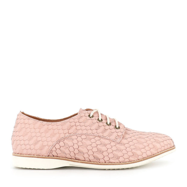 DERBY LACE UP - GEO SNOW PINK LEATHER