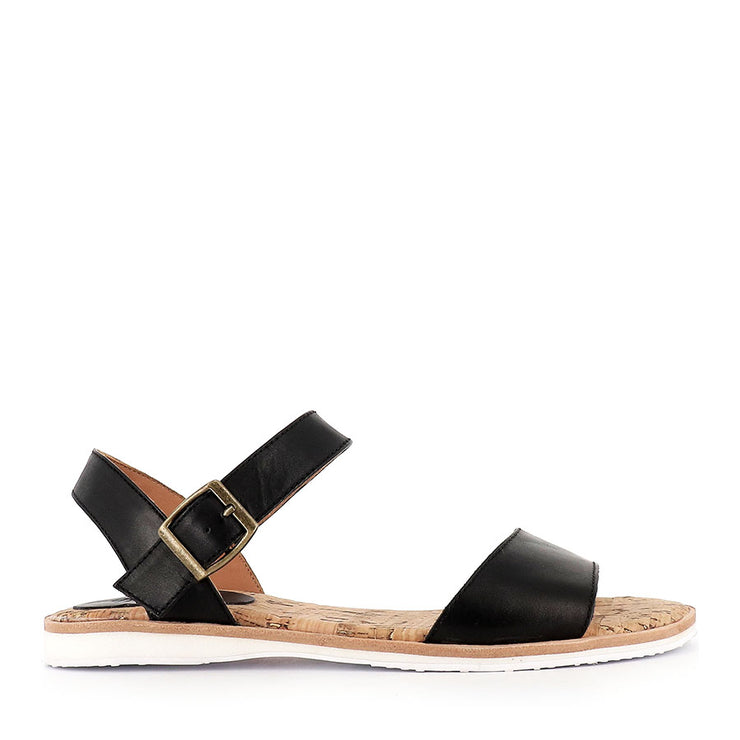 SANDAL - BLACK LEATHER