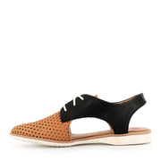 SLINGBACK PUNCH - TAN/BLK