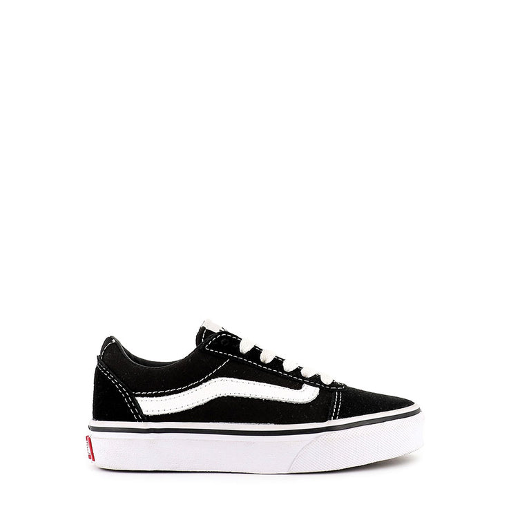 WARD SDE CANVAS (JNR) - BLACK WHITE SUEDE CANVAS