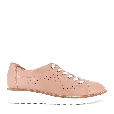ODRA - WARM ROSE LEATHER WHITE SOLE