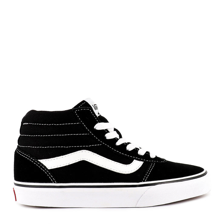 WARD HI SUEDE/CANVAS (L) - BLACK WHITE
