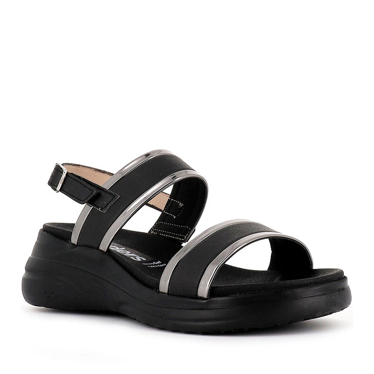 DAISEY D-8404 - BLACK PEWTER LEATHER