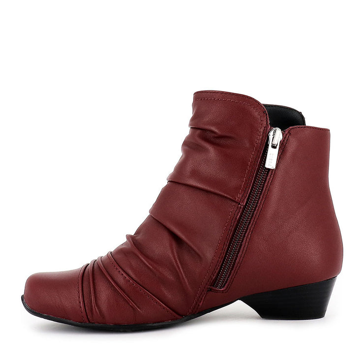 CAMRYN XW - DARK RED LEATHER