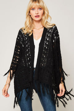 Midnight Rider Fringe Cardigan