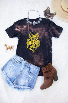 Dream Catcher V-Neck Graphic Tee