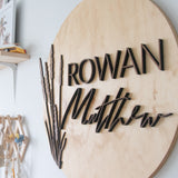 Custom Name | Round 3D Wood Sign