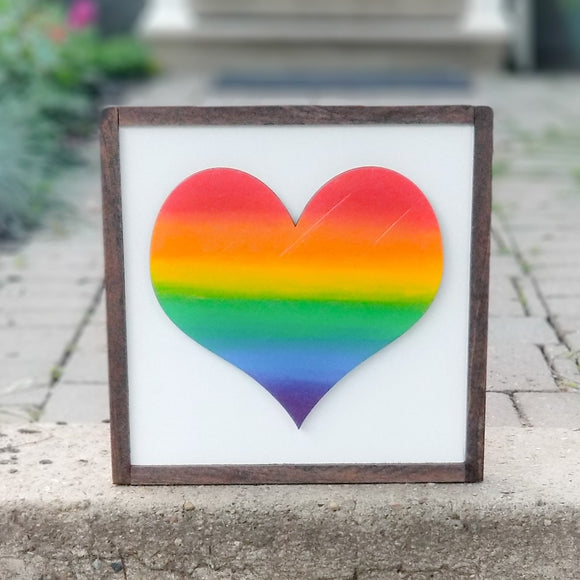 Heart | Framed 3D Wood Sign