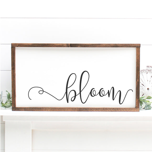 Bloom | Framed Painted Wood Sign
