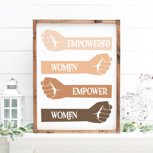 Empowered Women Empower Women | Framed Painted Wood Sign