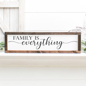 Family is Everything | Framed Painted Wood Sign
