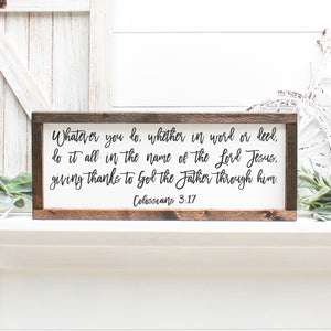 Bible Verse | Framed Painted Wood Sign