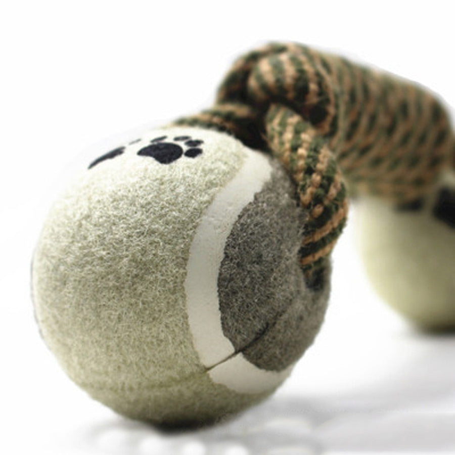 DOUBLE BALL ROPE DOG TOY
