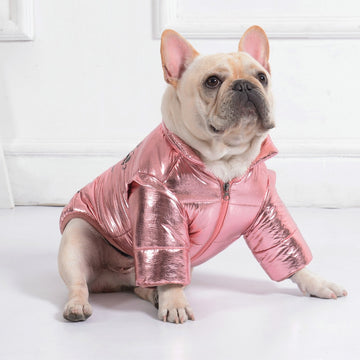 Metallic Puffer Dog Jacket