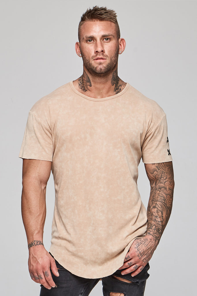 Faded Faith Tee - Beige