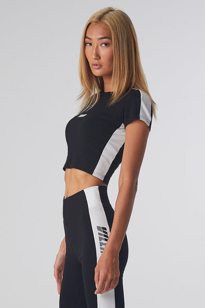 Kayla Cropped Tee - Black