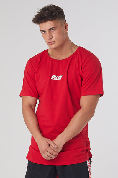 Iconic Drop Tail Tee - Red