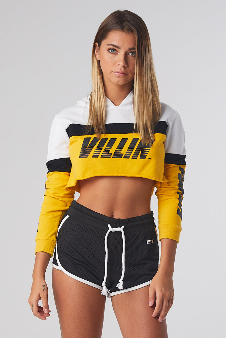 Fast Hooded Crop - White