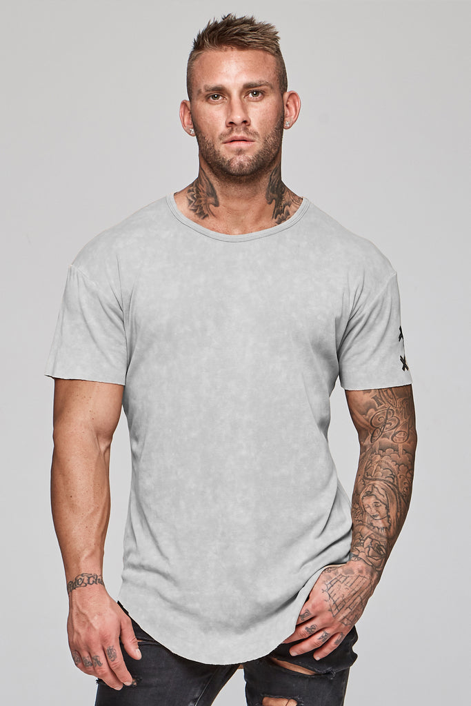 Faded Faith Tee - Grey