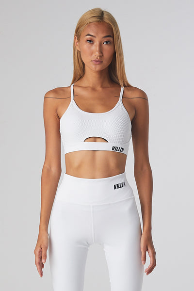 Mesh Sports Bra - Miss Fit - White