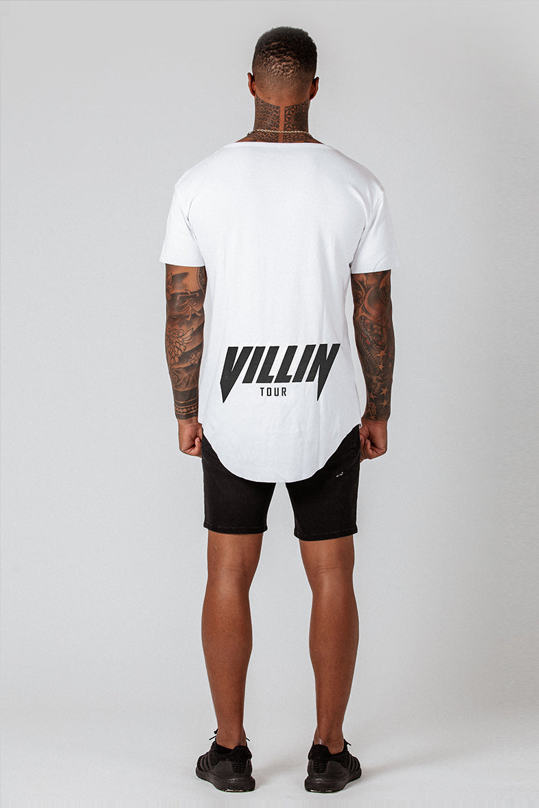 Faded Faith Drop Front Tee - White