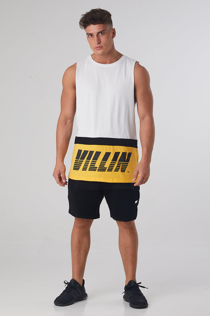 Fast Sleeveless Tank - White