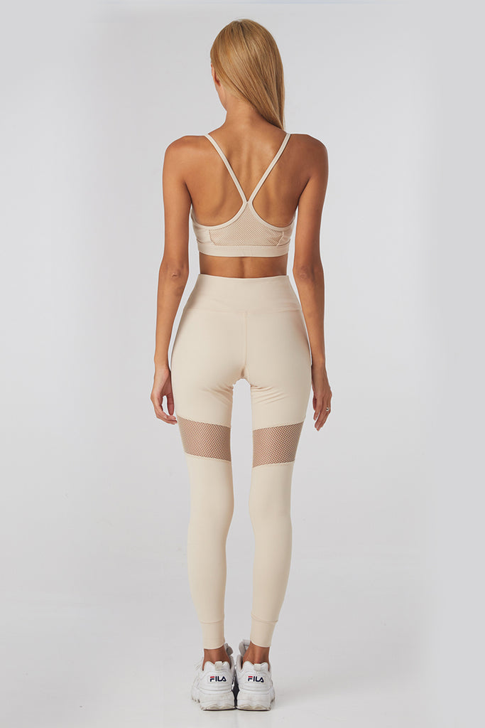 MisFit Mesh Sports Tights - Beige