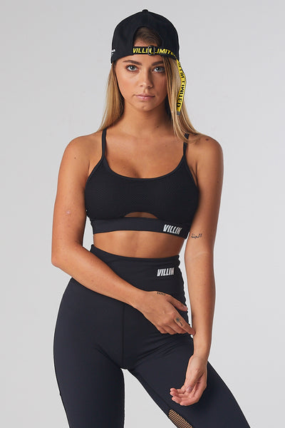 Mesh Sports Bra - Miss Fit - Black