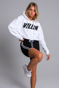 Nikki Hooded Crop - White