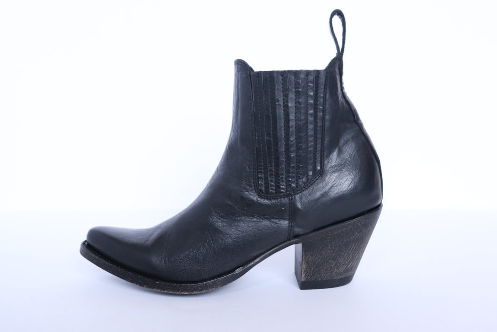 The Paloma Western Boot - Black - Harmonica
