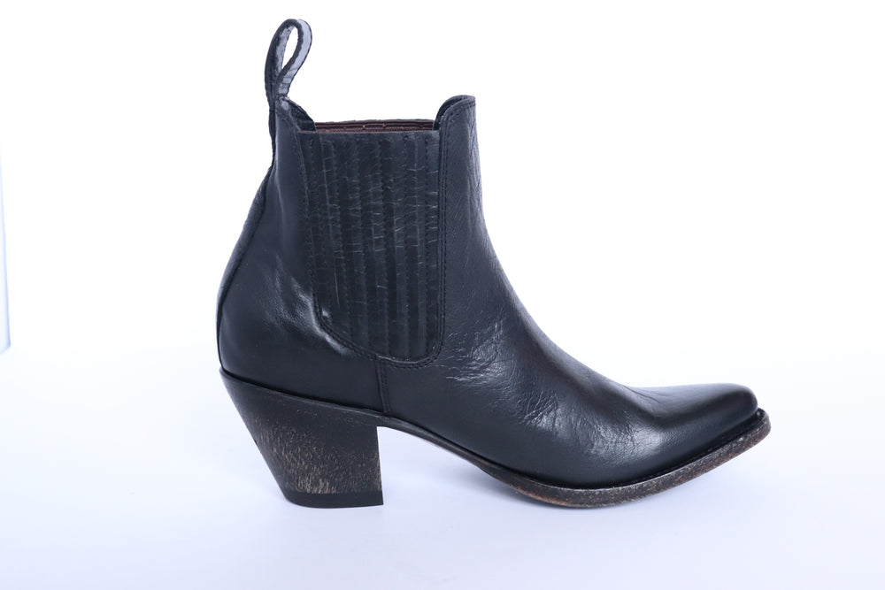 Load image into Gallery viewer, The Paloma Western Boot - Black - Harmonica