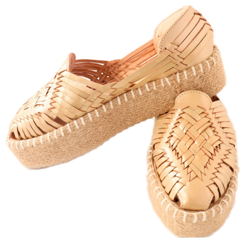 Load image into Gallery viewer, Miranda Woven Espadrille - Gold - Harmonica