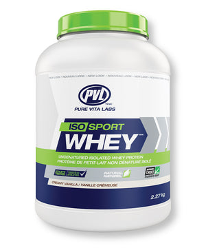 PVL ISO Sport Whey Isolate Protein – Creamy Vanilla Flavour